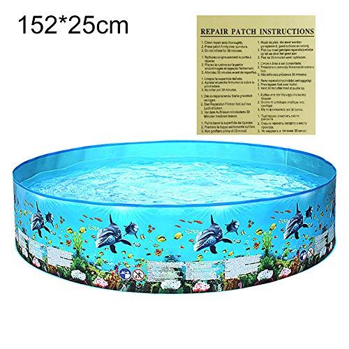 Vwlvrsco Wear-Resistant Outdoor Graden Round Children Water Play Swimming Pool Summer Baby Kids Plastic Bathtub 152x25cm