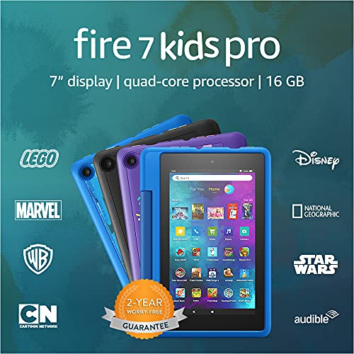 Fire 7 Kids Pro tablet, 7' display, ages 6+, 16 GB, Intergalactic