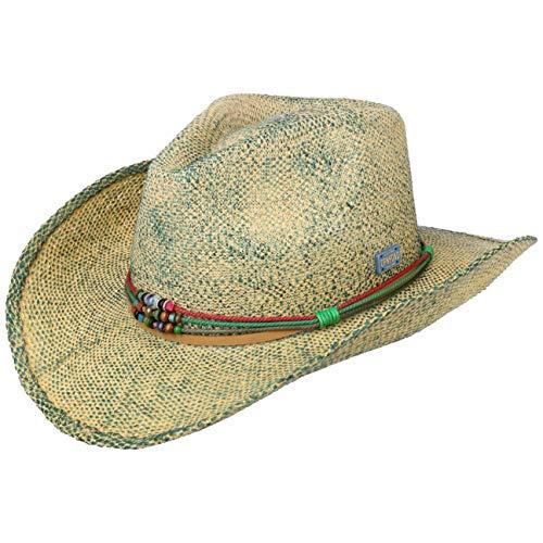 Stetson Townsend Toyo Westernhut Sommerhut Sonnenhut Cowboyhut Damen/Herren - Frühling-Sommer - L (58-59 cm) türkis-meliert