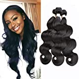 Beauhair Brazilian Hair Bundles Body Wave 100% Human Hair 3 Bundles 14 16 18 inch Weave Hair Human Bundles Natural Color