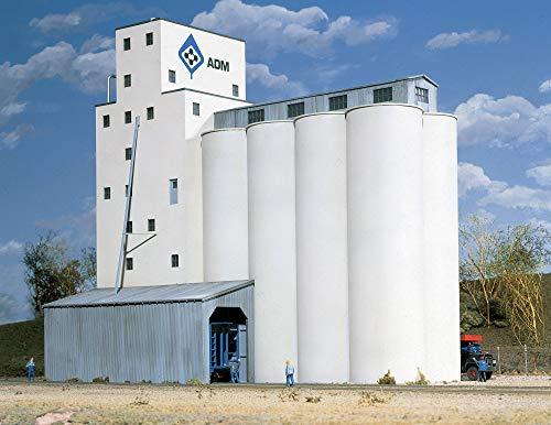 Walthers Cornerstone Series Kit HO Scale ADM Grain Elevator & Accessories