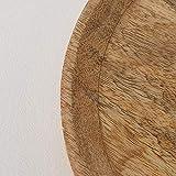 2 Holzteller Mangoholz Dekoteller Teller Deko Schale Mango Holz Ø 25 & 35 cm - 3