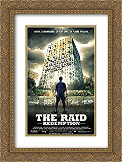The Raid: Redemption 18x24 Double Matted Gold Ornate Framed Movie Poster Art Print