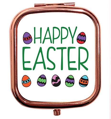 Flox Creative Miroir carré carré doré rose Happy Easter
