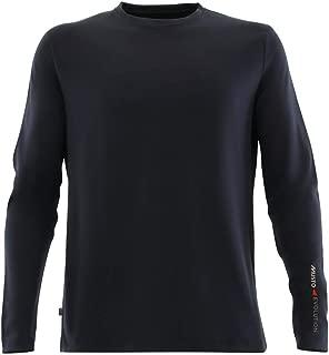 Mens SunShield Permanent Wicking UPF30 Long Sleeve T-Shirt Black - Lightweight