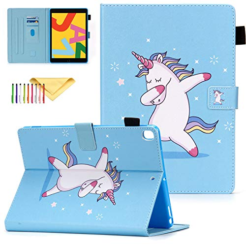 New iPad 8th Generation 10.2 Inch Case 2020, iPad 10.2 2019 Covers, Uliking Shock Proof Protective Stand Cover with Auto Sleep/Wake Feature Case Kids for Apple iPad 10.2' 2020/2019, Dance Unicorn