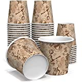 6 oz Paper Cups for Coffee and Tea - Decorated Office Disposable Water Paper Cups