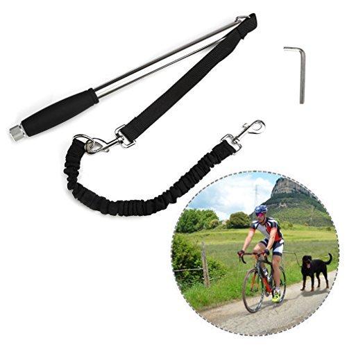 Itian Titular de bicicletas para los separadores de rack moto perro guía para la bici de la bicicleta de la lona titular de la marca, Correa negra de bicicleta para perro