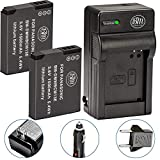 BM Premium 2 Pack of DMW-BCM13E Batteries and Charger for Panasonic Lumix DC-TS7,DMC-FT5A, LZ40, TS5, TS6, TZ37, TZ40, TZ41, TZ55, TZ60, ZS27, ZS30, ZS35, DMC-ZS40, DMC-ZS45, DMC-ZS50 Digital Cameras