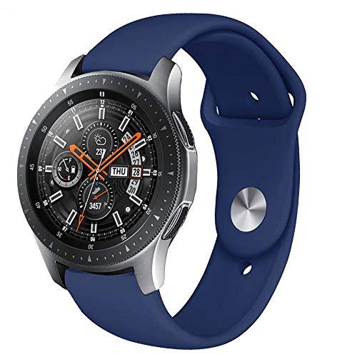 Vobafe 3 Stück Armband Kompatibel mit Samsung Galaxy Watch Active/Active 2 (40mm/44mm), Weiches Silikon Armbänder Ersatzarmband für Galaxy Watch 3 41mm/Gear Sport, S Rosa/Hell Blau/Grau