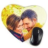 Tappetino per Mouse Cuore Personalizzato con la Tua Foto, Progettazione o Testo. Unico, Originale ed Esclusivo Regalo. Diversi Modelli