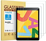 TiKeDa [3 PACK]Tempered Glass Screen Protector Compatible with iPad 8th Generation/iPad 7th Generation (10.2 inch)