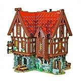 MARLO MOC 72838 Medieval Tavern – 2951 piezas de construcción modular casa bloques compatibles con Lego Medieval Blacksmith 21325