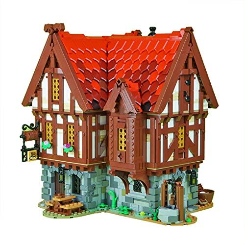 Casa modular Medieval Tavern - MOC 72838 Taverne medieval - 2951 piezas - Casa de ciudad compatible con Lego Medieval Blacksmith 21325