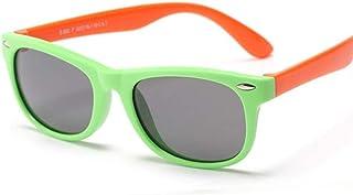 FRGH - Gafas De Sol Polarizadas Clásicas para Niños Gafas De Sol De Seguridad De Silicona Niños Niñas Moda Niños Espejo