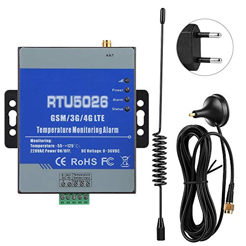 Alarma de falla de circuito inalámbrico, RTU5026 GSM circuito inalámbrico Temperatura de falla Estado de corto circuito Monitoreo de alarma(UE)