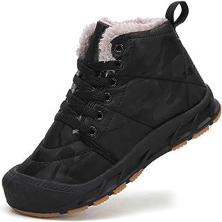 AFFINEST Botas de Invierno Niño Niña Botas de Nieve Forradas Cálidas Zapatos de Niños Antideslizantes Senderismo Zapatilla...