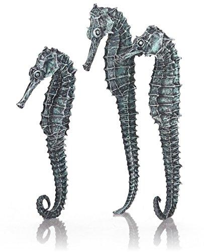 Oase biOrb Seepferdchen 3er-Set - 3-teilige Aquariums-Dekoration, Accessoires in Form von DREI Deko-Tieren, Zubehör fürs Aquarium-Becken, in Schwarz