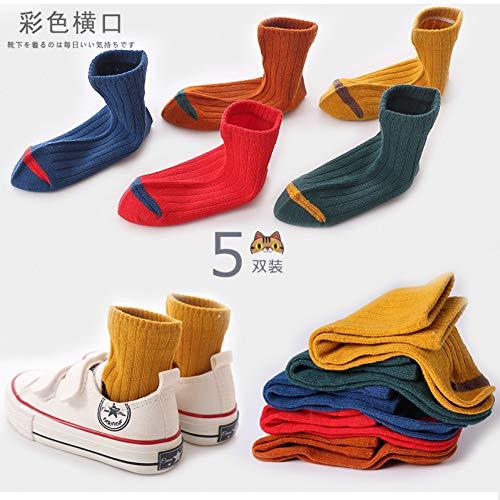 CSCZL Calcetines de algodón otoño Invierno Primavera para niños Estudiantes Calcetines de Pisoniños y niñas calcetín de Tobillo Multicolor