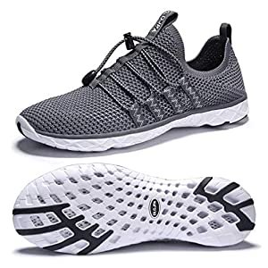 DLGJPA Men's Quick Drying Water Shoes for Beach or Water Sports Lightweight Slip On Walking Shoes
