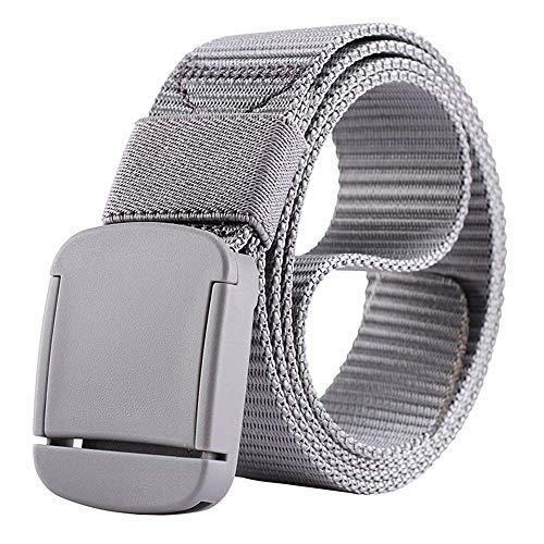 LOF-fei cinturón Lona Unisex Moda Ocasional automático de Hebilla Lisa cinturón táctico...
