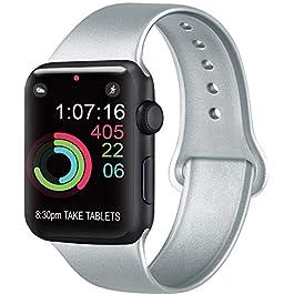AK Cinturino Compatibile per Apple Watch Cinturino 44mm 42mm 38mm 40mm, Cinturino Sport in Silicone Cinturino Uomo e Donna per iWatch Serie 5 4 3 2 1