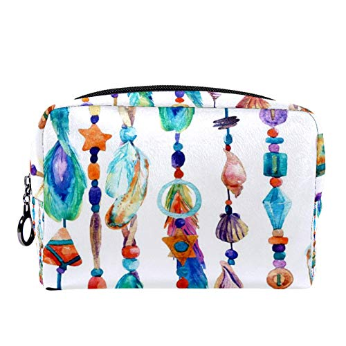 Cosmetic Bag Womens Makeup Bag for Travel to Carry Cosmetics Change Keys etc,Jewellery with Sea Shells