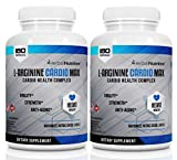 L-Arginine Cardio Max 1500mg Cardio Support Blend Two Bottles 360 Capsules L-Citrulline Vitamins Minerals Support Cardio Health Blood Pressure Cholesterol Energy Nitric Oxide Booster