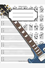 Left Handed Guitar Tab Notebook: 100+ Blank Guitar Tablature with Major & Minor Chord Fingering Charts Paperback