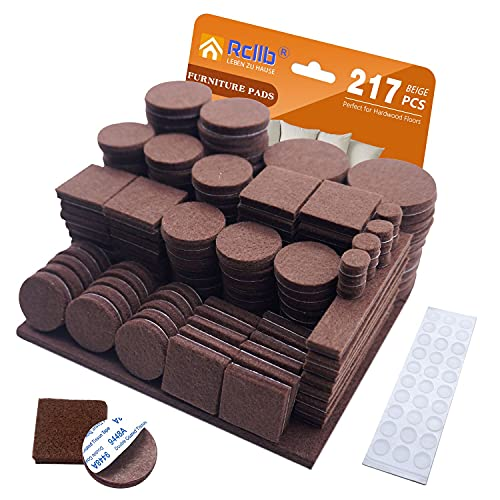 $3.59 Felt Furniture Pads 217 Ps Clip the Extra 20% off Coupon & use promo code: 95QCK4JU Only works on brown option