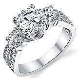 Ultimate Metals® Alianza de Compromiso de Plata Esterlina 925, Anillo...