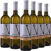 Vipava 1894 Vino blanco Malvazija 2018, (6 x 0,75 l), vino blanco seco cosechado a mano