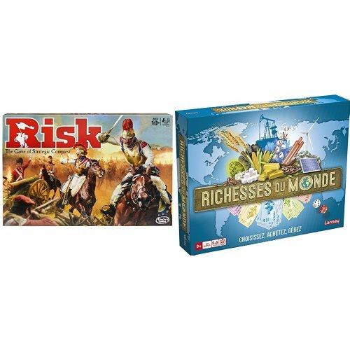 Pack Hasbro - B7404 - Jeu de Stratégie - Risk et Lansay - 75045 - Richesses Du Monde