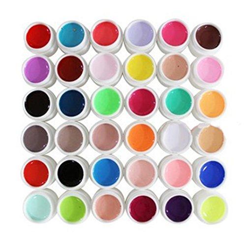 Smalti in Gel, Oyedens 36 Pure Color Extension Nail Art UV Gel Builder Suggerisce Colla Manicure