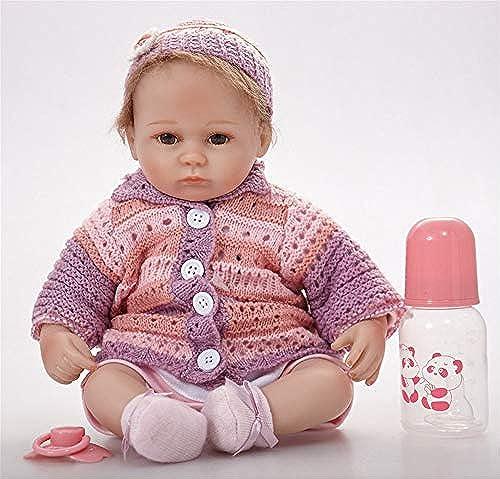 Reborn Baby, 22in rotes Kleid Weiße Silikon-Kinder-Puppe, Goldene Krone mit sch n blauen Augen, gibt dem Kind EIN sch  Puppe Geschenk.