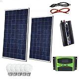 Kit Fotovoltaico 2 KW Pwm Inverter 2000W Pannello Solare 200W...