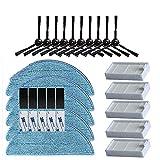 ADUCI Cepillo Lateral Primaria Polvo Filtro HEPA Filtro Mop Pad for Chuwi Ilife V5 V5s V3 V5 V3s Pro X5 Piezas de Robot Aspirador (tamaño : 3)