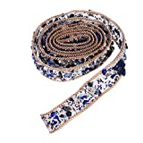 ULTNICE Crystal Rhinestone Dress Sash Belt DIY Hats Shoes Bag adornos 1m (azul)