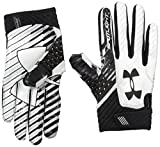 Under Armour Men's Spotlight Football Receiver Gloves,Black (001)/Black, Large