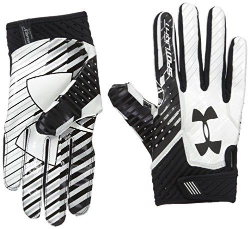 Under Armour Spotlight Amercian Football Receiver Handschuhe - schwarz/weiß Gr. L
