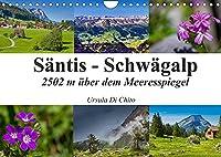 Saentis - Schwaegalp (Wandkalender 2022 DIN A4 quer): Impressionen der Schweizer Bergwelt - Der Saentis (Monatskalender, 14 Seiten )