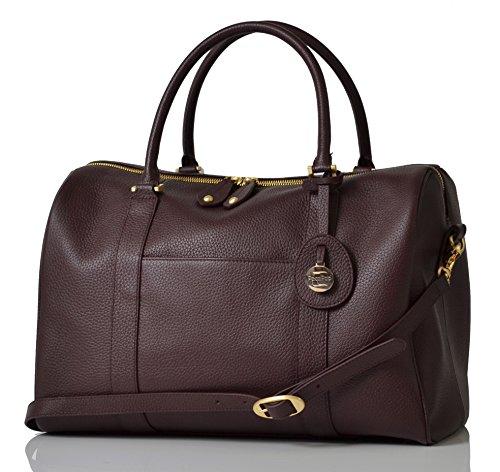 PacaPod Firenze Claret Designer-Baby-Wickeltasche–aus Luxus-Leder, 3in 1Organisationssystem