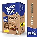 Yogabar Multigrain Energy Bars - 380gm (Nuts and Seeds, 38gm x 10 Bars)
