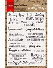 Marianne Design Birthday Wishes Clear Stamp Set, Synthetic Material, 18.7 x 11.9 x 0.4 cm