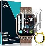 LϟK 6 Pezzi TPU Pellicola Protettiva per Apple Watch Series 6/5/4/SE 44mm - Senza Bolle Trasparente HD Schermo Protettivo con Kit D'Installazione