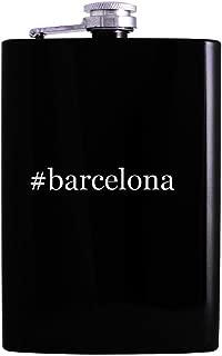 #barcelona - 8oz Hashtag Hip Alcohol Drinking Flask, Black