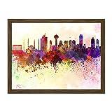Doppelganger33 LTD Painting Cityscape Paint Splash Skyline