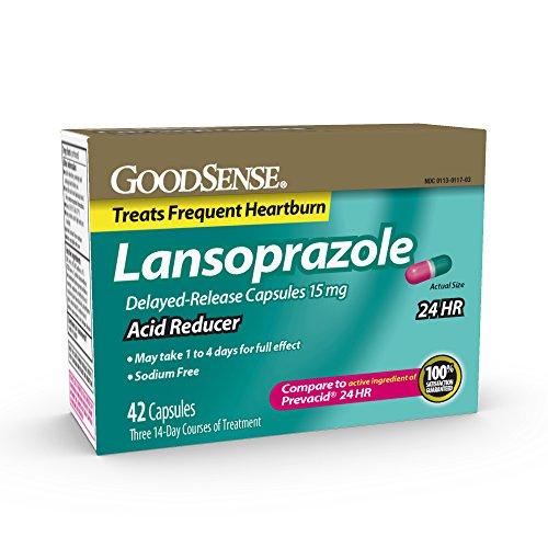 GoodSense Acid Reducer Lansoprazole Delayed Release Capsules 15 mg 42 Count