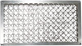 Tjernlund 950-8304 Underaire Steel Crawl Space Vent, Steel Diamond Pattern, 18