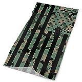 Quintion Robeson USA Army Camo Flag Tube Bandanas Headwear Headband Multi Scarf Face Scarf Neck Polaina HDW-011